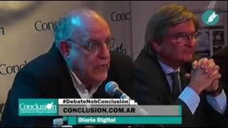 debate de Eduardo de Newells presidente de Newells. Prometiendo refuerzos y Tacuara Cardozzo.