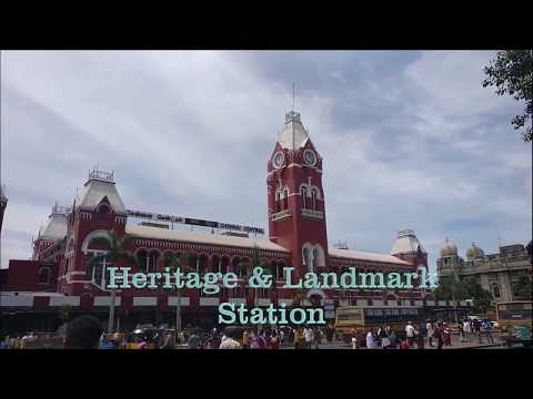 Heritage Railway Station Chennai Central Early Morning Captures Departure AC Double Decker