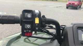 6. 2017 HONDA  FourTrax Rancher 4x4 DCT IRS OLIVE