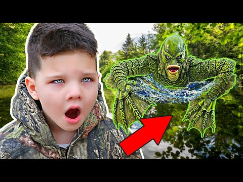 POND MONSTER in OUR YARD! POND MONSTER EGGS FOUND!