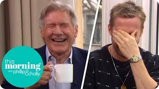 Video Ryan Gosling and Harrison Ford Lose It at Hilarious Interview! | This Morning MP3, 3GP, MP4, WEBM, AVI, FLV Juli 2018