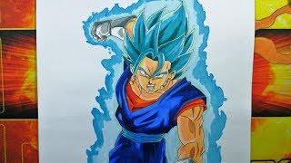 SUBSCRIBE!!: https://goo.gl/7rRQe5  Speed drawing of Vegetto Super Saiyan Blue!, please  share the video if you like , that will help me a lot!