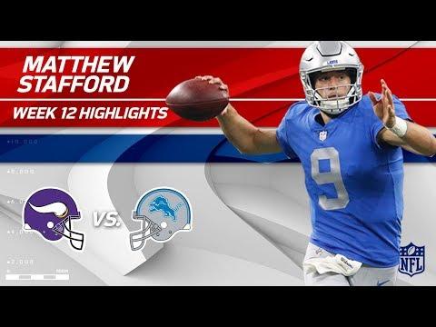 Video: Matthew Stafford Serves Up 250 Yards & 2 TDs to Minnesota! | Vikings vs. Lions | Wk 12 Player HLs