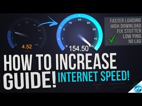 🔧 How to Speed up your Internet! Boost Download Speeds, Lower Ping, Fix Lag on Wired and WiFi EASY