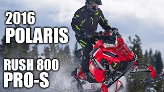 1. TEST RIDE: 2016 Polaris AXYS RUSH 800 Pro-S
