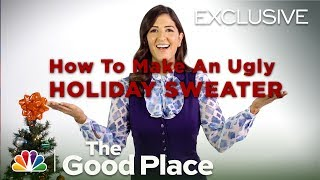 Video The Good Place - Janet's Ugly Sweater Tutorial (Digital Exclusive) MP3, 3GP, MP4, WEBM, AVI, FLV September 2018