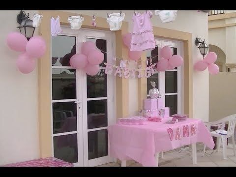 Fiesta de baby chaguer videos videos relacionados con for Decoracion baby shower nina