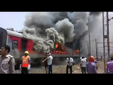 THE BURNING TRAIN! || Andhra Pradesh AC Express In Flames! || Indian Railways!