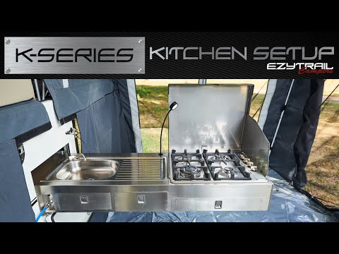 Ezytrail Campers - K-series Kitchen Setup
