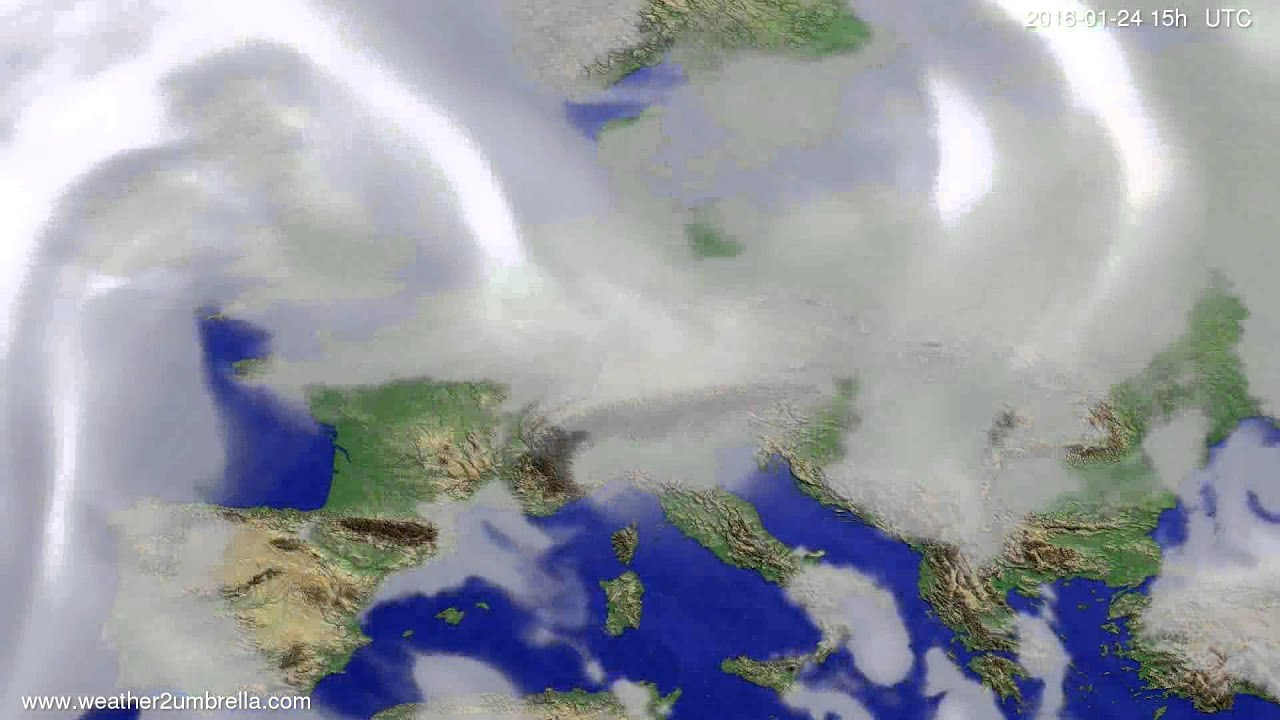 Cloud forecast Europe 2016-01-22