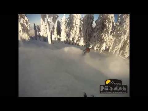 Fantastic ski day on and off piste in Postavaru, Romania 8.01.2015