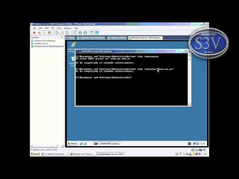 Windows Server 2003 - Configuracion horaria con net time