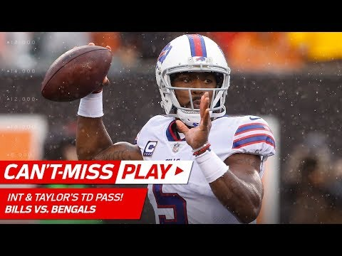 Video: Micah Hyde's Diving INT & Tyrod Taylor's Big TD Strike! | Can't-Miss Play | NFL Wk 5 Highlights
