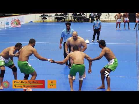 Champions Kabaddi League Surrey Superstars vs Paar Abby Fighters