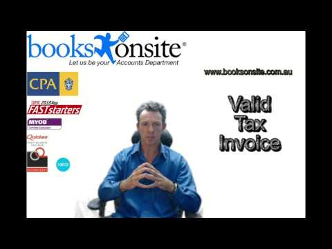 Bookkeeping Services Tips  Valid Tax Invoice