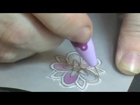 pergamano - Parchment Crafting (Pergamano®) with rubber stamps by SweetStamps.com. Learn to emboss, etch, pierce, color and cut.
