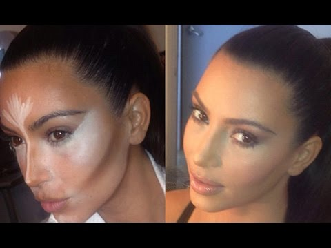 CONTOUR AND HIGHLIGHT LIKE KIM KARDASHIAN - STEP BY STEP