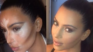 CONTOUR AND HIGHLIGHT LIKE KIM KARDASHIAN - STEP BY STEP - YouTube