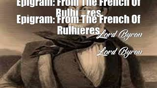 Video Epigram: From The French Of Rulhires (Lord Byron Poem) MP3, 3GP, MP4, WEBM, AVI, FLV Oktober 2017