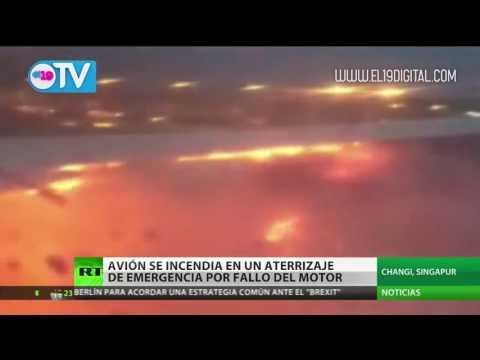 """¡Estuvimos cerca de la muerte!"": avión de Singapore Airlines se incendia"