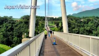 Kokonoe Japan  city images : Japan's Longest Suspension Footbridge Kokonoe 九重夢橋