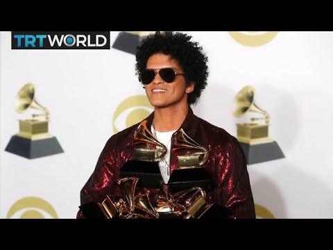 The Grammy Awards: R&B's Bruno Mars wins top three awards