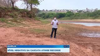Represa Cascata atinge índice negativo e  pode faltar água em bairros