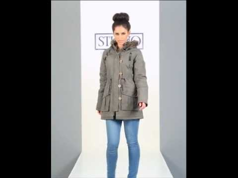 24studio - Quilted Jacket With Faux Fur Trim Hood By Brave Soul