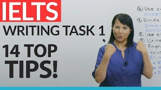 I've trained thousands of students for success on their IELTS exam by using these 14 tips! Now it's your turn. You'll learn what you MUST do to get the highest score on your IELTS General Writing Task 1. Find out how to easily identify the type and purpose of each letter, and how to start and end your letter perfectly. Learn to save time and effort by using standard expressions. Understand the scoring criteria, so you know exactly what to do and what NOT to do. Visit http://www.GoodLuckIELTS.com for a free guide to the IELTS, and download my free resource at https://www.engvid.com/ielts-general-task-1-letter-writing/ with sample letters, sample topics, key expressions, tips, and much more. Good luck!Take the quiz on this lesson: https://www.engvid.com/ielts-general-writing-task-1/TRANSCRIPTHi. I'm Rebecca from engVid. If you need to do the IELTS general exam, I'm sure it's for a very important reason. Perhaps you're trying to immigrate to another country, or get admission to a college program, or join a professional training program. Whatever your reason, I know you want to get the highest marks possible. Right? Of course. So I'm going to help you to do exactly that in one particular area of the exam, and that's in your writing section. Now, in the writing section there are two parts, one is a letter and one is an essay. In this lesson we will focus on how you can get the highest marks possible in the letter-writing section. Okay? The 14 tips that I'm going to give you I promise you, if you apply each one of these things, step by step you're going to get more and more marks. Okay? So stick with me and we will go through them. Let's get started.So, the first thing you have to identify when you read the letter-writing task is: What type of letter am I being asked to write? Is it a formal letter, is it a semi-formal letter, or is it an informal letter? Well, how do you know that? Well, you can know it in a few ways and I'm going to explain them, but one of the ways tha