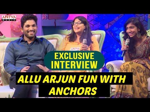 Video Allu Arjun & Pooja Fun With Anchors | Allu Arjun & Pooja Hegde Exclusive Interview About DJ download in MP3, 3GP, MP4, WEBM, AVI, FLV January 2017