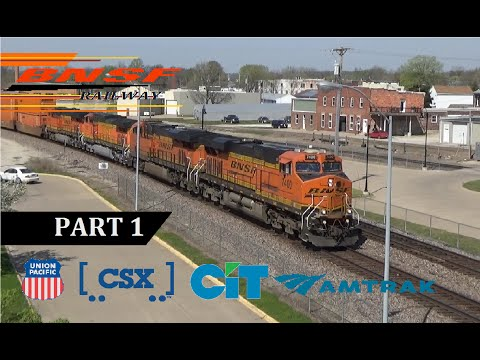 Railfanning BNSF Southern Transcon in Fort Madison, IA Niota, IL