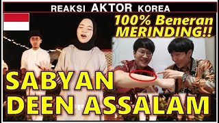 Video REAKSI AKTOR KOREA Dengar DEEN ASSALAM - Cover by SABYAN MP3, 3GP, MP4, WEBM, AVI, FLV Juni 2018