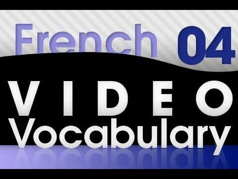 Französisch lernen - Video Vokabeln #4