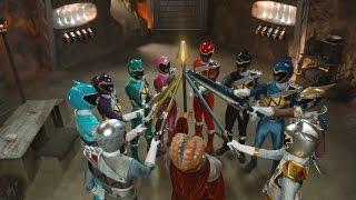 Power Ranger Super Dino Charge | Batalla Megazord contra los Greenzilla round 1   Capitulo 19