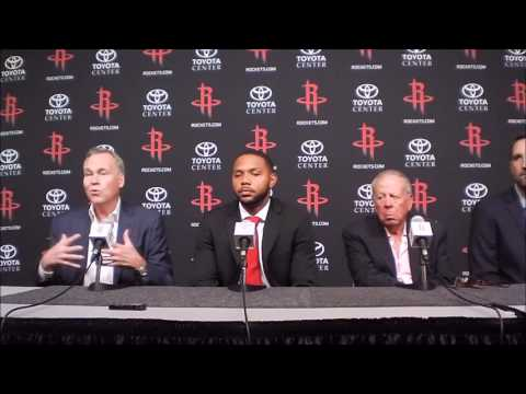 Houston Rockets introduce Ryan Anderson, Eric Gordon