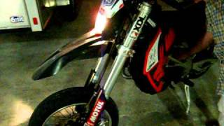 10. Autographed XDL Aprilia SXV 450 Start up, Revs, and Exhaust