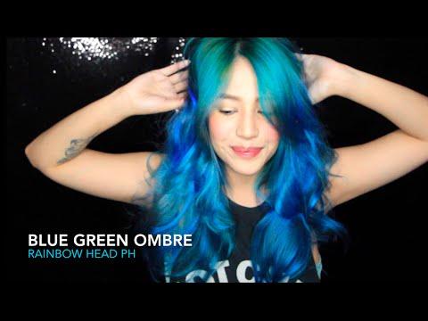 BLUE GREEN OMBRE | MERMAID HAIR | RAINBOWHEAD | JESSICA GODINEZ