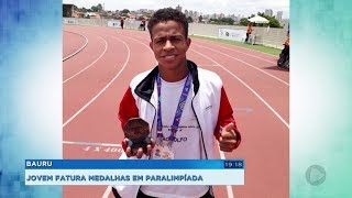 Bauru: atleta da ABDA conquista duas medalhas de ouro nas paralimpíadas escolares