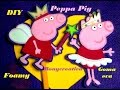 PEPPA PIG EN FOAMY o GOMA EVA - LAPIZ Y LIBRETA