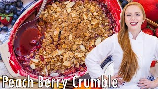 Berry Peach Crumble by Tatyana's Everyday Food
