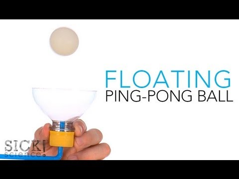 Floating Ping Pong Ball - Sick Science! #137 (видео)