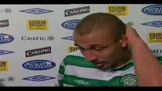 Henrik Larsson emotional beim Abschied von Celtic