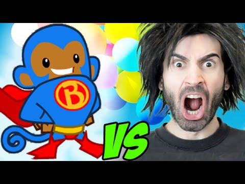 BLOONS TOWER DEFENSE 5 vs The World's Worst Gamer!