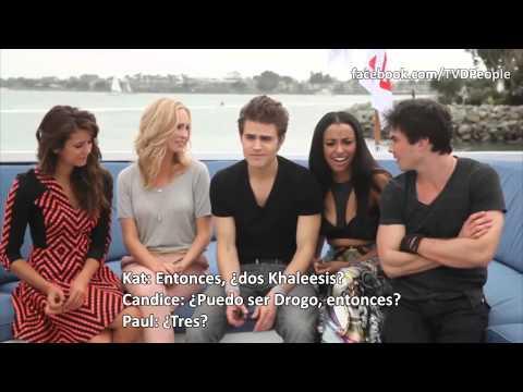 The Vampire Diaries Divertida Entrevista | Comic Con 2013 subtitulado en español