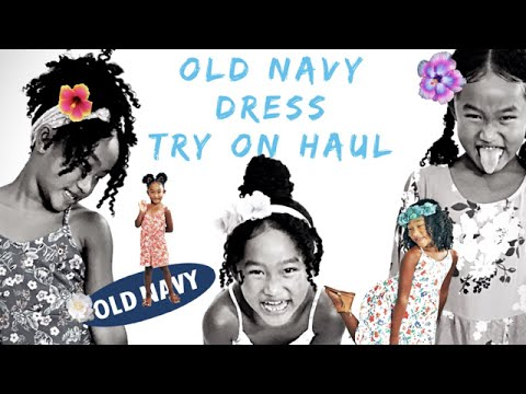 Try On Haul / Girls Old Navy Floral Dresses 🌺 👗