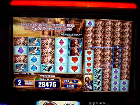 Van Helsing Colossal Reels Slot Machine Bonus.  Big Win!!  $2.50 Bet
