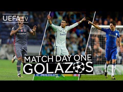RONALDO, TOSUN, OSCAR: GREAT #UCL Matchday One GOALS!!