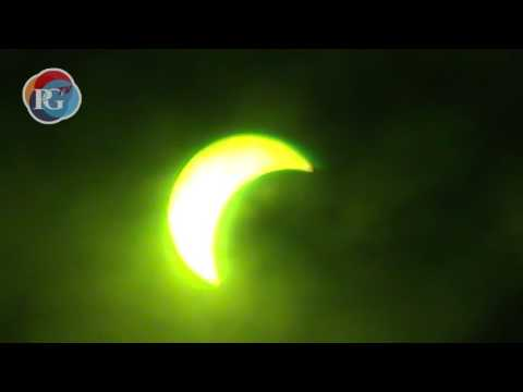 Sky watchers in Phuket were treated to partial eclipse of the sun this morning. Video: PGTV/Nick Davies