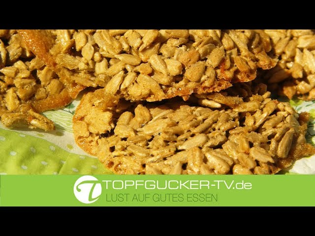 Sonnenblumenkern-Kekse | glutenfrei | laktosefrei | Rezeptempfehlung Topfgucker-TV