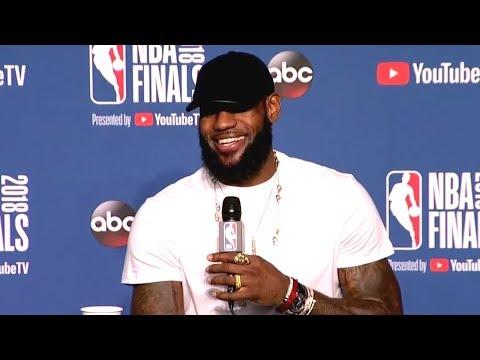 LeBron James Postgame Interview - Game 4  Warriors vs Cavaliers  June 8, 2018  2018 NBA Finals